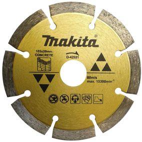 Disco diamantado segmentado concreto seco D-42531 - Makita