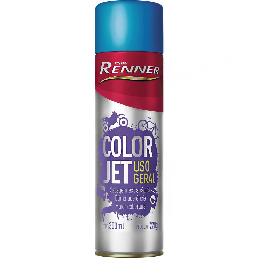 Spray vermelho 300ml 1735 - Renner Spray preto fosco 300ml 1715 - Renner