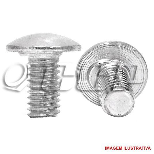Parafuso r.M lentilha c/trava - 1/4-20 x 3/4 unc zincado
