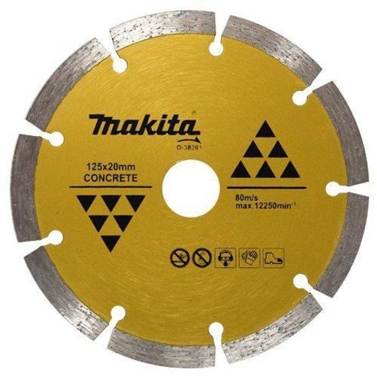 Disco diamantado segmentado concreto d-38261- makita