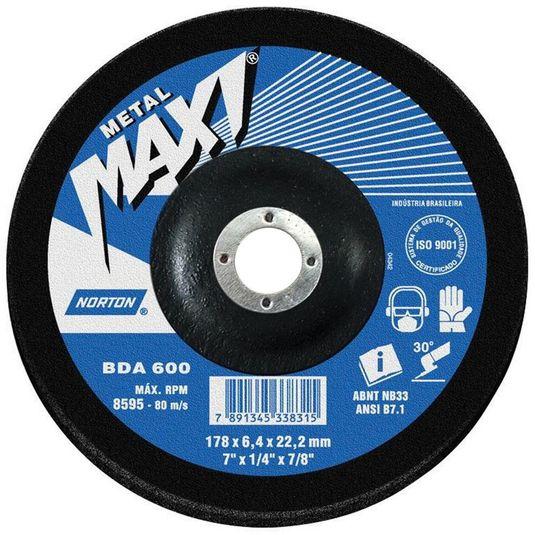 disco-de-desbaste-bda-600-maxi---7--x-1-4--x-7-8--norton