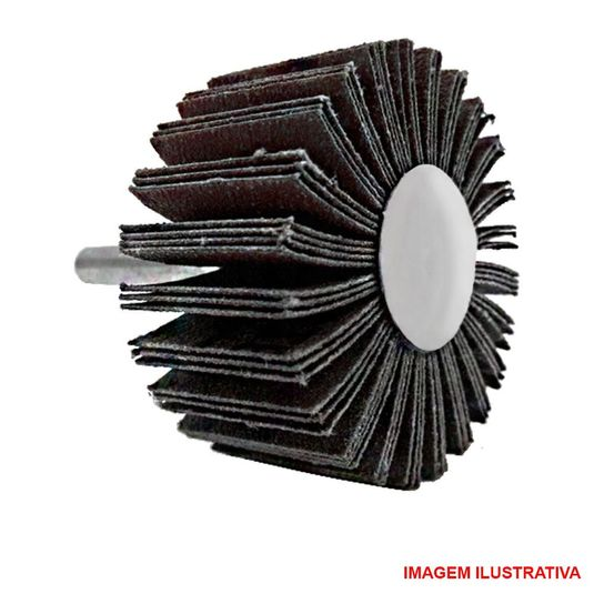 Roda de lixa com pino / carb flap / mini pg / minikuntor 50 x 25 grana 120 - pontabras