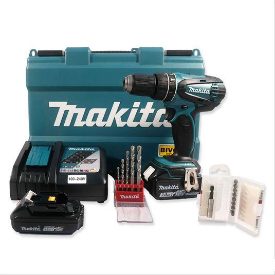 combo-makita-parafusadeira-furadeira-de-impacto-a-bateria-12-18v-bivolt-lxt-dhp456-com-maleta-1-sku70925